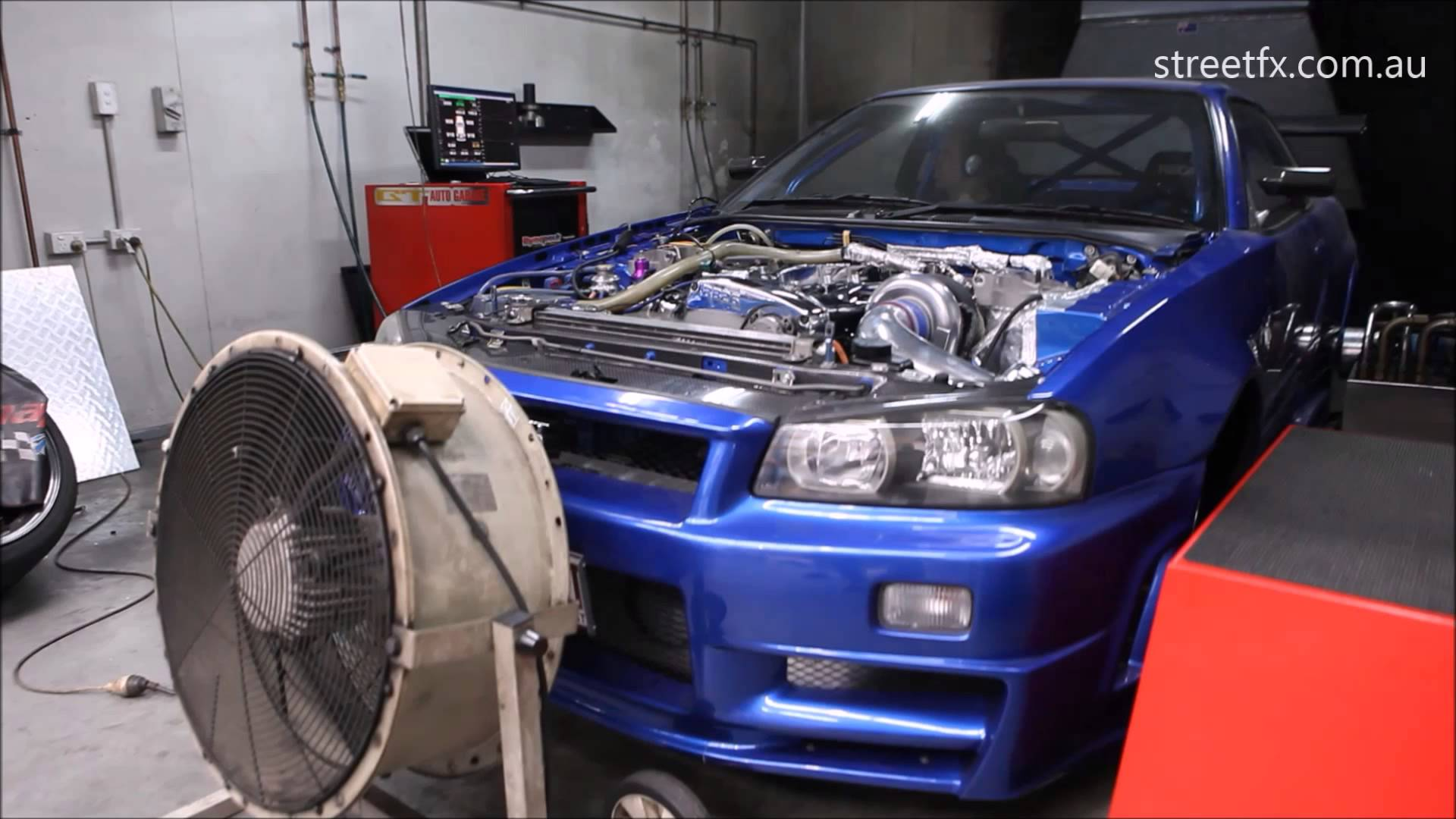 GT R Broke The Dyno Machine With The Engine Producing In Excess