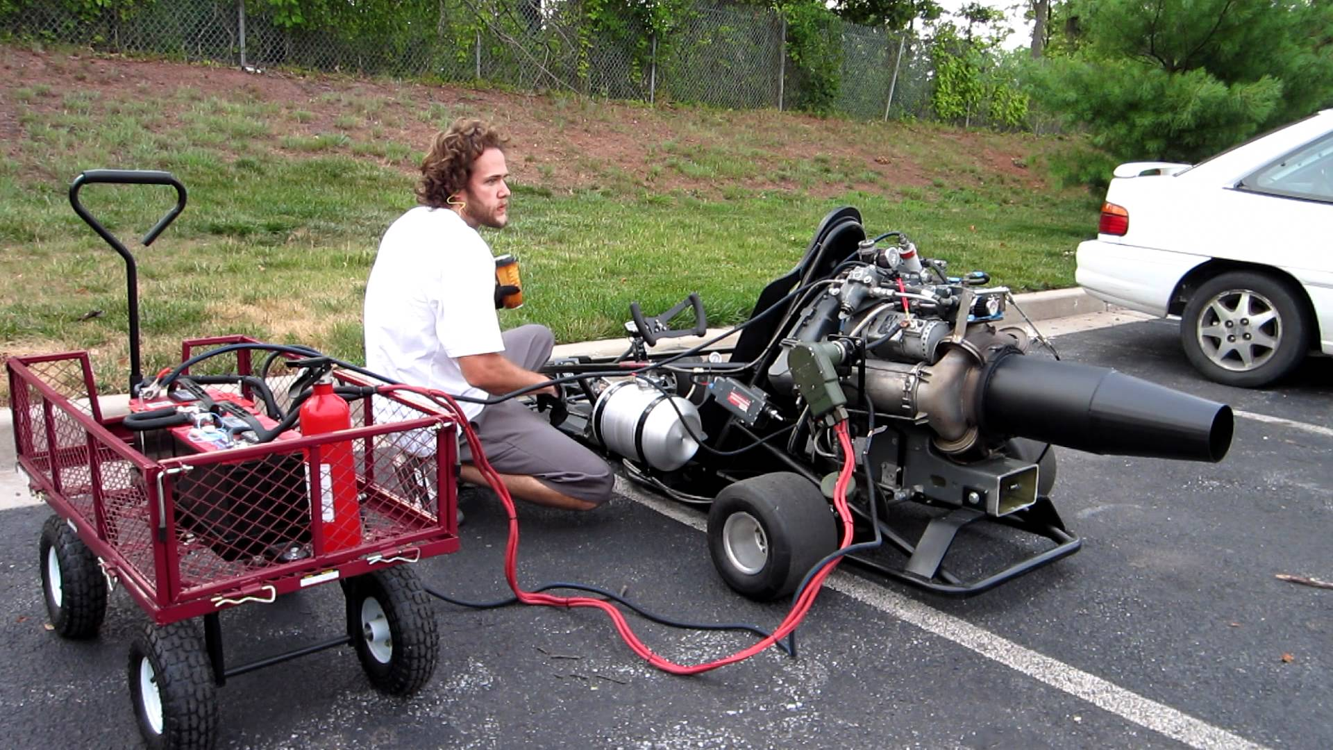 Check Out This One Of A Kind Jet Engine Powered Go Kart!
