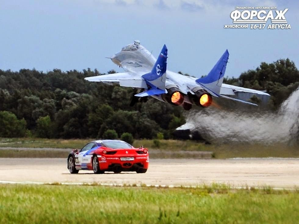 Epic Crazy Drag Race Russian Su 27 Jet Fighter Versus Lamborghini