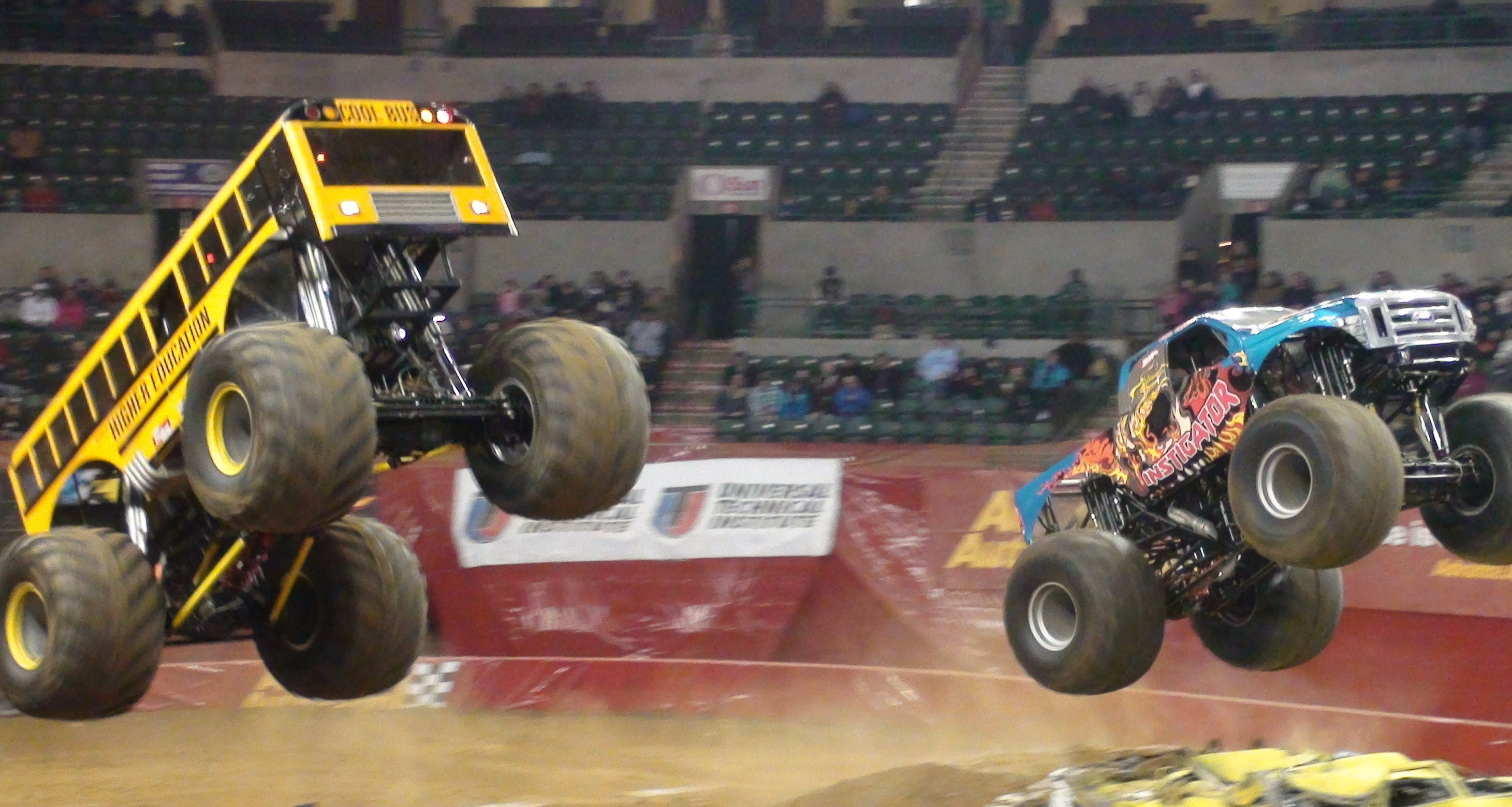 Watch The Higher Education Instigator Monster Trucks Go Wild At The Monster Jam Event