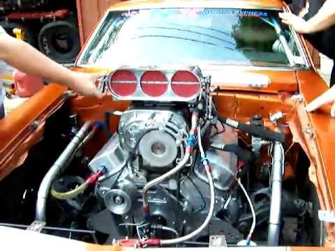 A Blown Beautiful Chevy Camaro American Muscle Car Ready For Russian