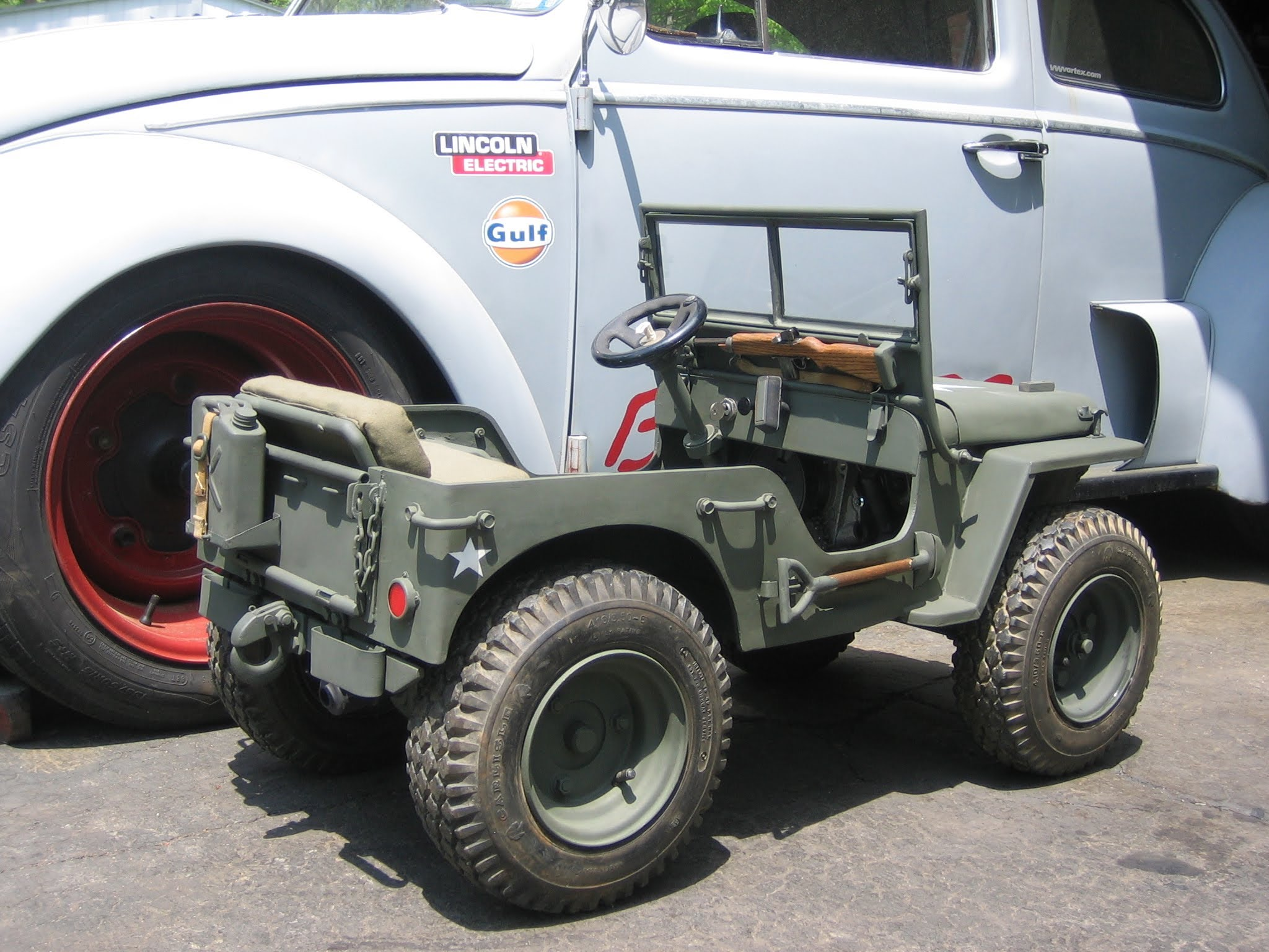 This ⅓ Scale U S Military Jeep Is The Cutest Custom Hand
