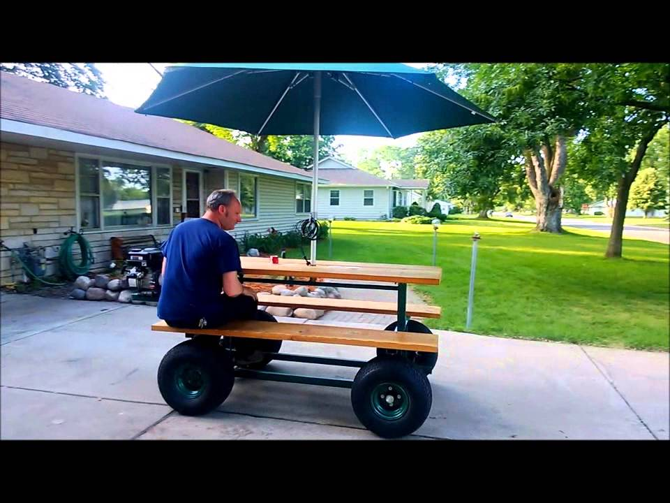 Be ready to dine wherever you are with this motorized Motorized table