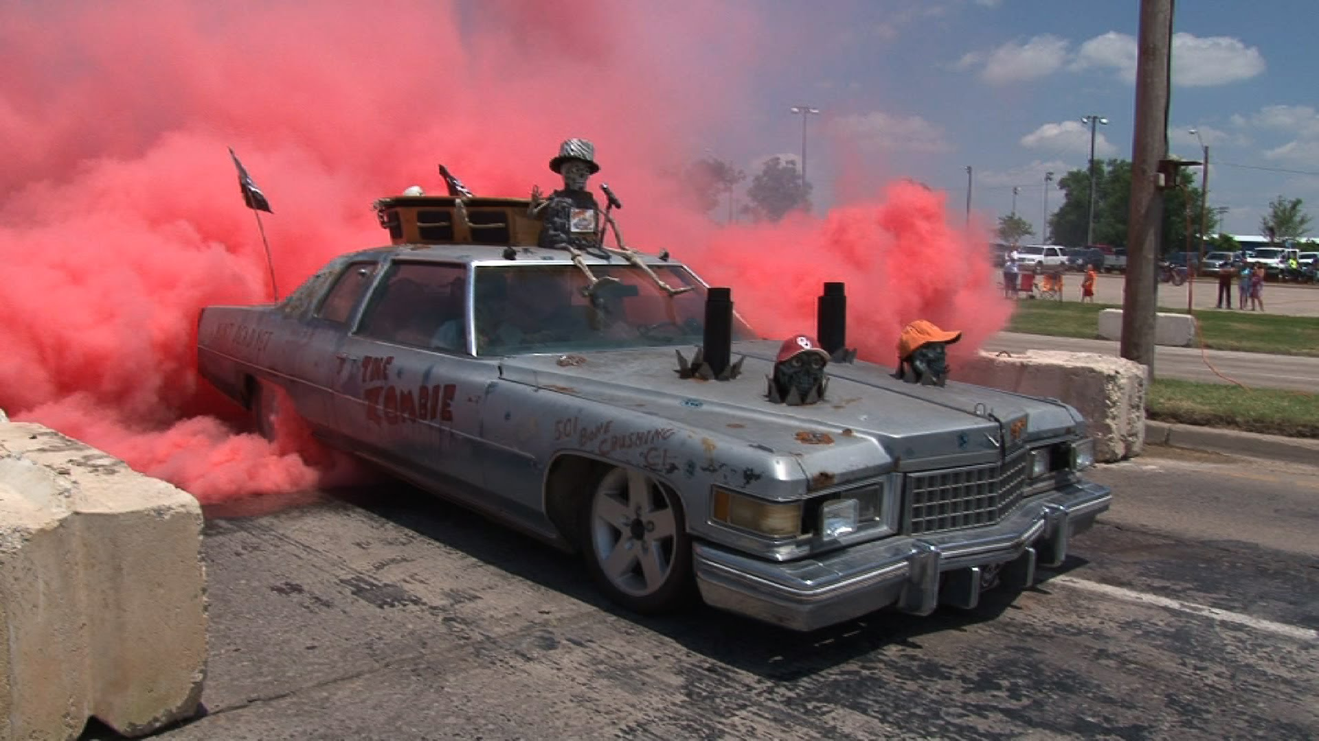 This Zombie Sled Car Is Just Perfect For Halloween! Watch!