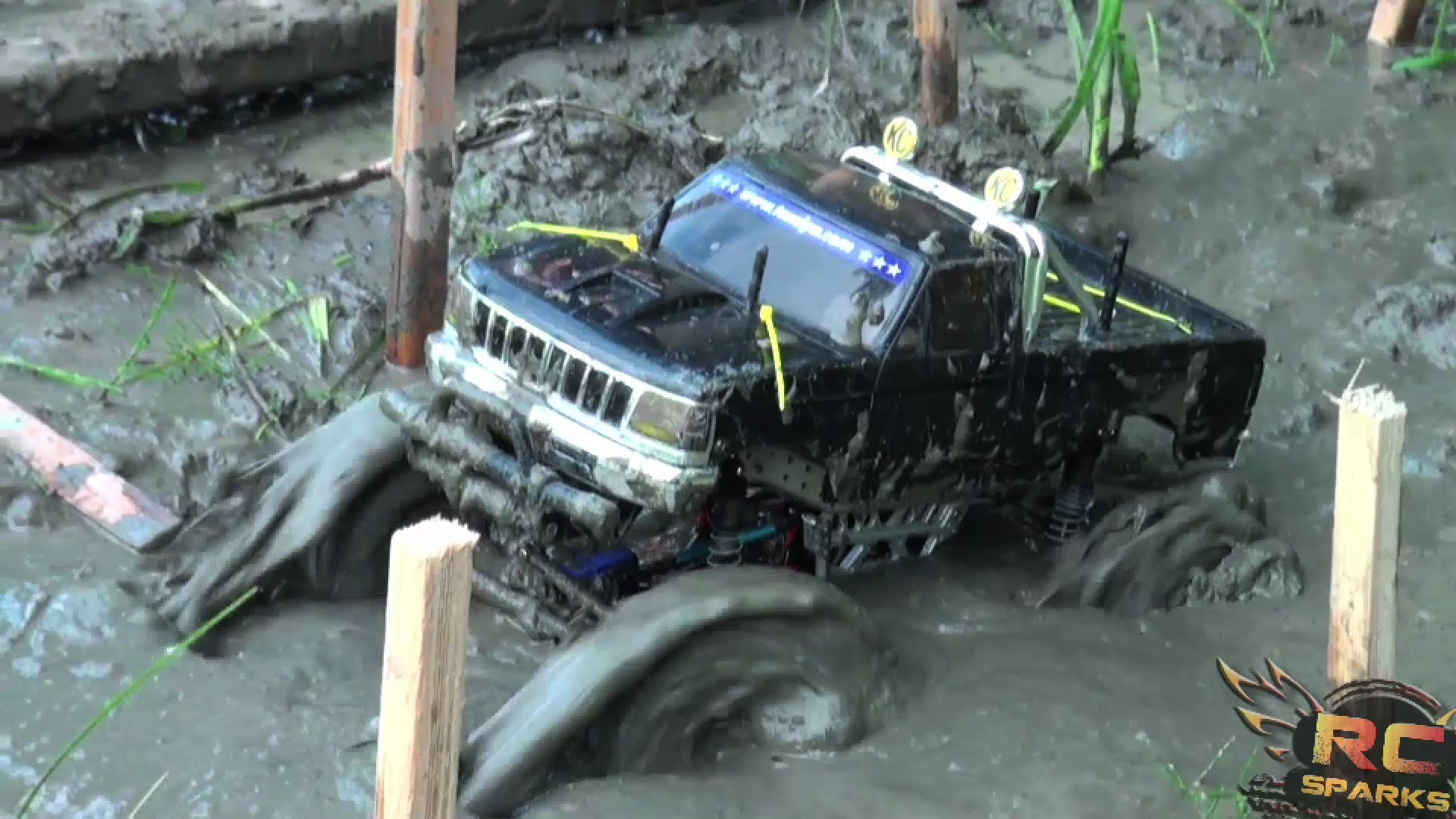 Tough Truck Mud Bog Challenge Battle By Remote Control 4x4 At Rc