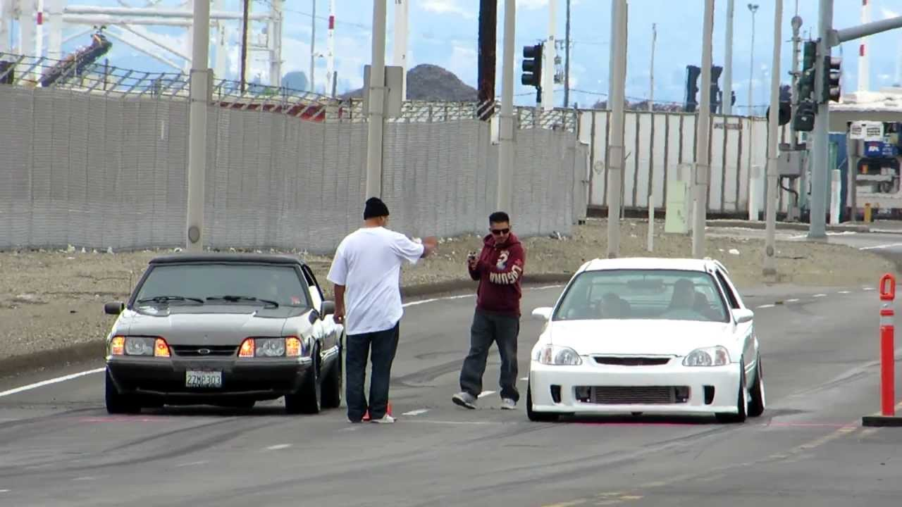 Awesome Import Vs Muscle Car Drag Race Goes To Put A Shame On