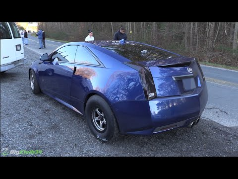 Don T Miss This Fierce Drag Race Between A Cadillac Cts V A