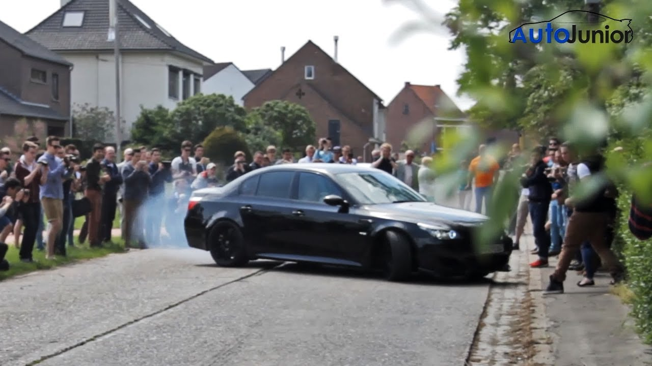 Drift Fail 630 Hp Bmw E60 M5 Almost Runs Over Spectator