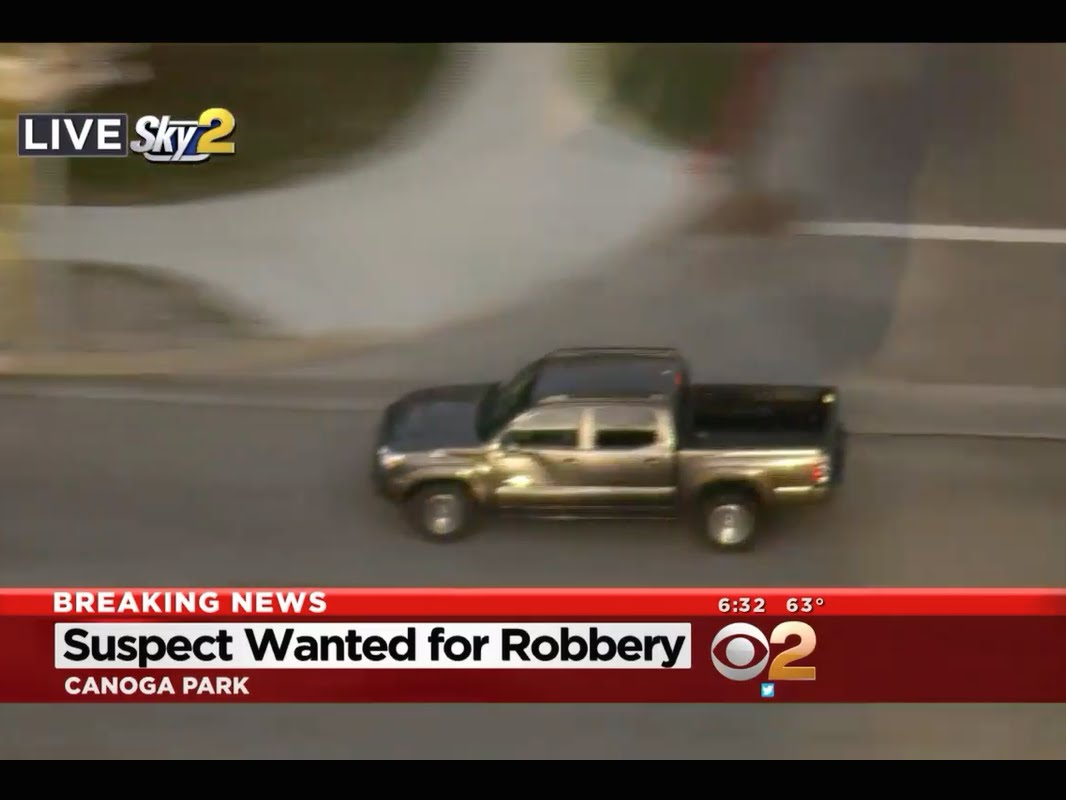 Los Angeles Police Chase Ends Up In An UNSUSPECTING Way