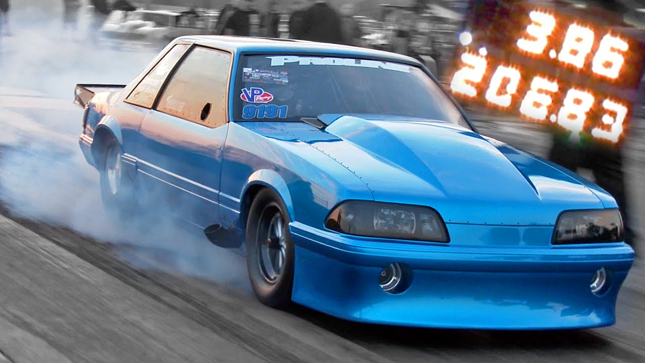 fletcher cox 39 s pro drag radial foxbody just kills it on the dragstrip. Black Bedroom Furniture Sets. Home Design Ideas
