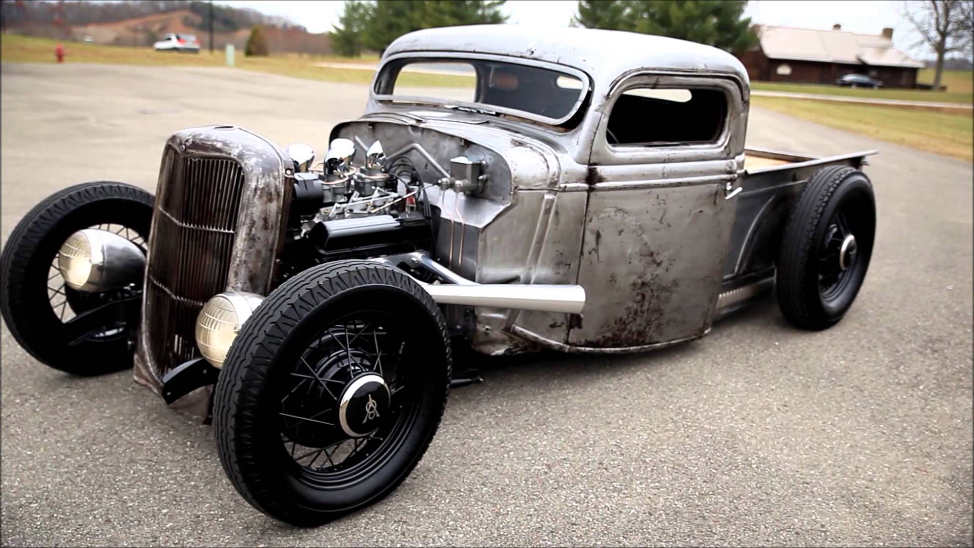 1935 Bare Metal Rat Rod Ford Pickup Will Leave You Breathless