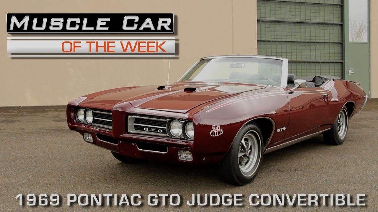 Check Out The Last 1969 Pontiac Gto Judge Convertible Ever