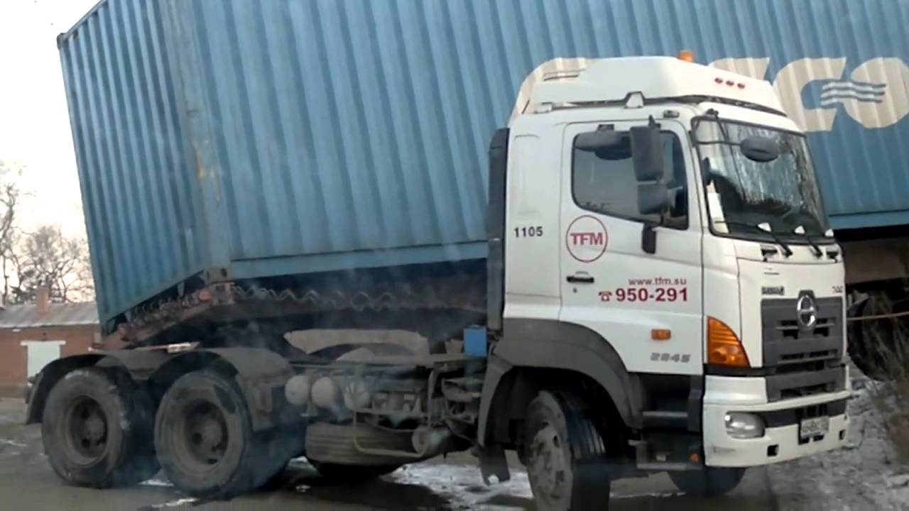 Russian Truck Driver Makes A Horrible Turning - What Was He