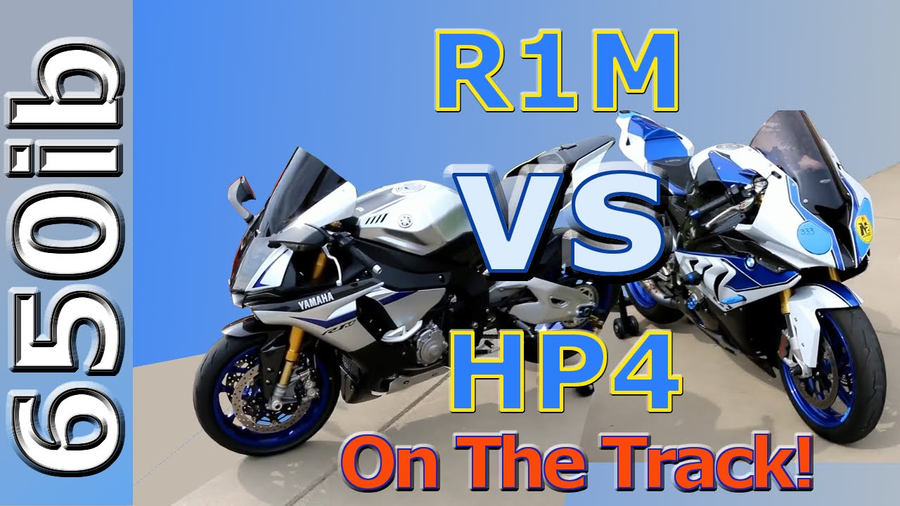 Yamaha R1M vs BMW HP4 During A Wild Track Day At The Mid