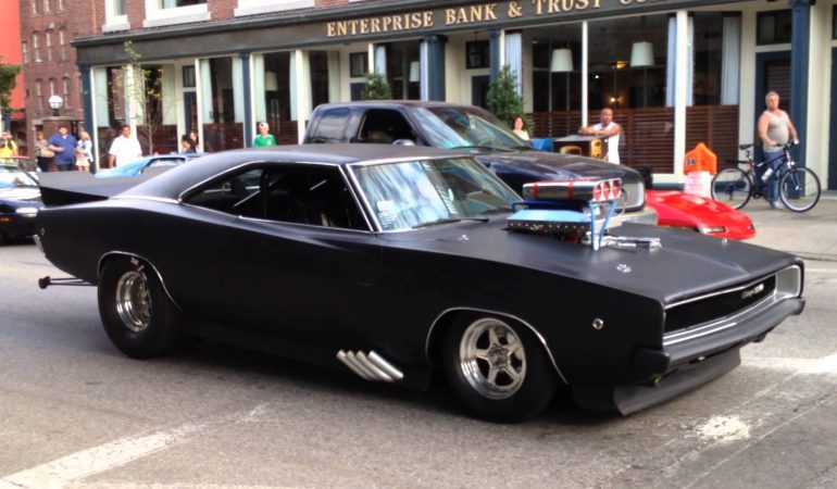 Fierce Matte Black 68 Dodge Charger Showing Off It S Pure Muscle