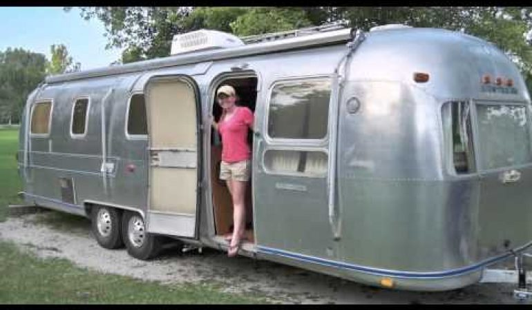Young Couple Finds Rescues An American Icon 1976 Airstream Luxury Camper Trailer